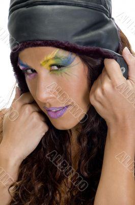 beautiful model with artistic makeup