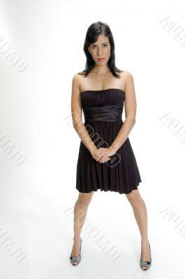 cool stylish woman posing