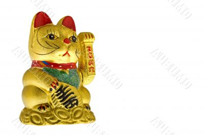 Golden lucky cat from China