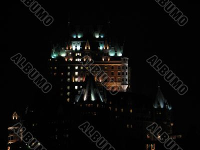 chateau frontenac, quebec, canada, at night