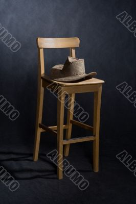 chair and western hat