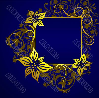 Gold frame for the text