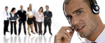 businessman busy on phone call