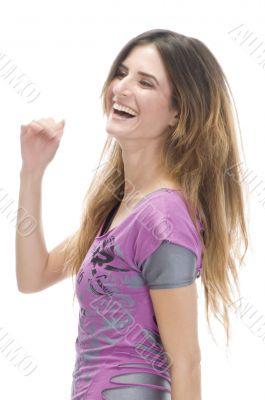 caucasian model smiling