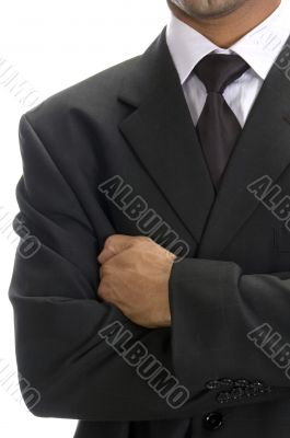 front view of well dressed businessman