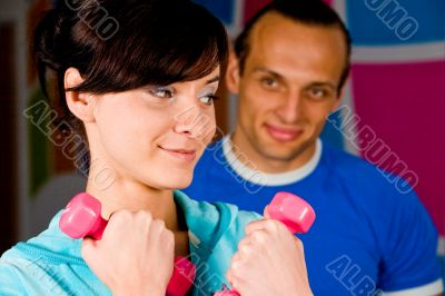 Workout with personal trainer