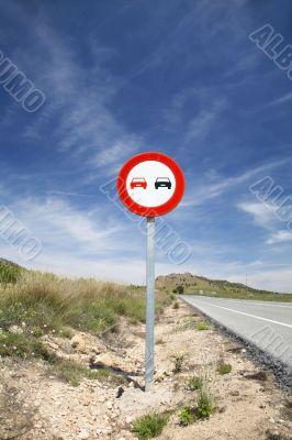 overtake sign