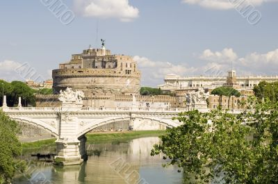 Castle Saint Angelo in Rome city