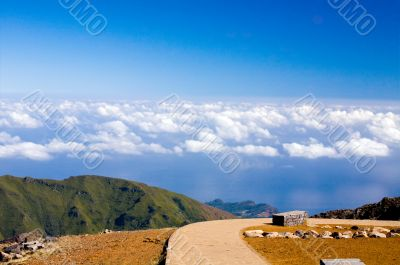 Road to blue heaven in mountains