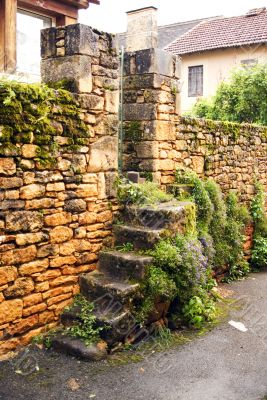 Stone Ladder and entrance at home