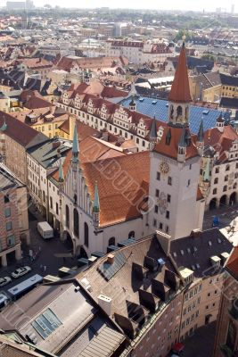Tile roofs of Munich, Germany - 2