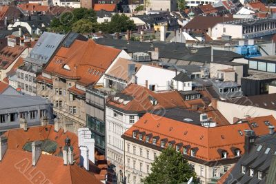 Tile roofs of Munich, Germany - 3