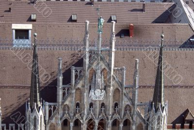 Roof of new Town Hall, Munich, Germany - 2