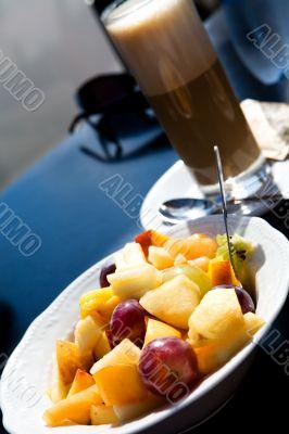 Fruit salad outdoors