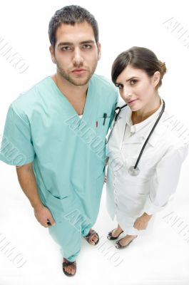 nurse standing with patient