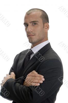 handsome businessman posing