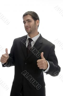 businessman wishing good luck