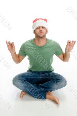 man doing meditation