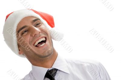 businessman burst into laughter