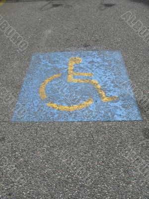 handicap parking space sign