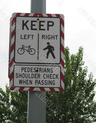 cyclist and pedestrian sign