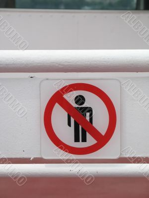 no people allowed sign