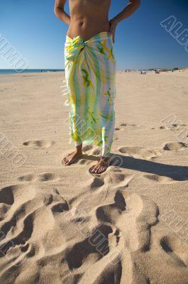 body with beach wrap