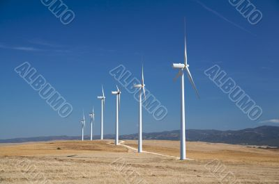 energy wind mills with track