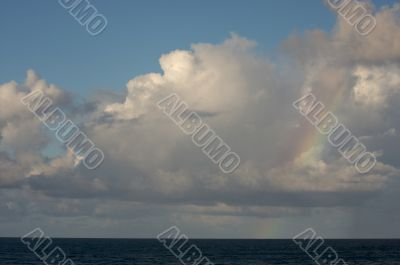 Dramatic Clouds over Tropical Shoreline
