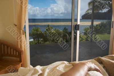Tropical View from Bed