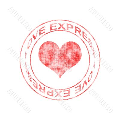Love Express Rubber Stamp