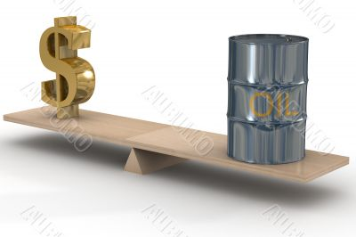 Cost of oil stocks. 3D image.