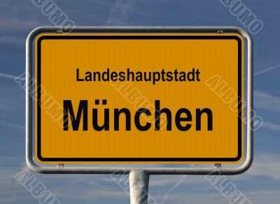 General city sign of Munich, Germany