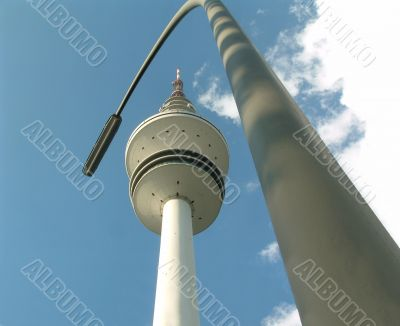 The television tower of the german city Hamburg