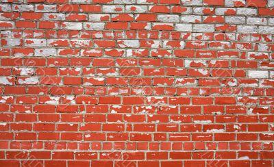 Decayed brick wall