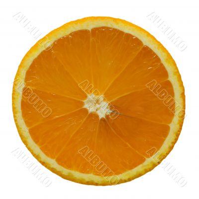 Thin slice of an orange