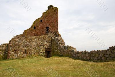 Hammershus, ruins of a castle in Bornholm, Denmark