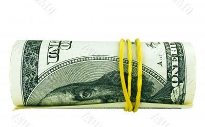 One hundred dollar bill roll