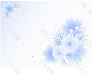 Winter, flower background