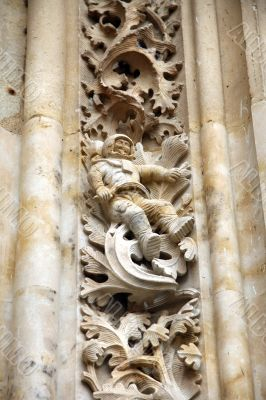 astronaut in salamanca cathedral
