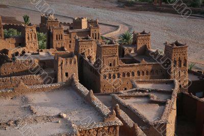 kasbah ait benhaddou from top