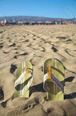 flip-flop at the beach