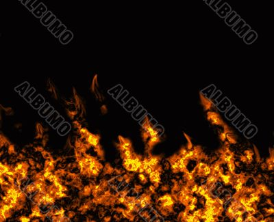 Abstract fire in a fireplace