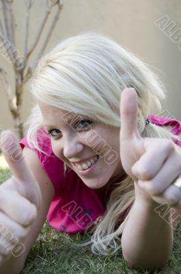 close up of caucasian woman
