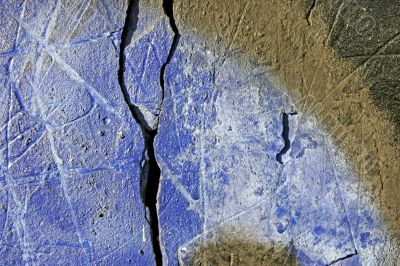 cracks on painted wall