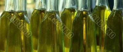 Olive oil in bottles
