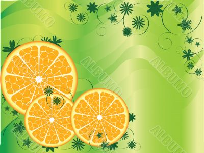 Abstract Fruit Orange Background