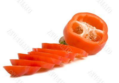 One sweet cut pepper