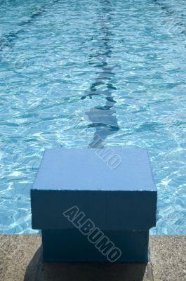 start block in a swimmingpool