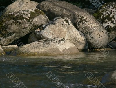 big stones in river `Yurtok`